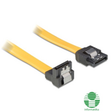 Delock  82479 cable SATA 50cm down/straight metal yellow 82479 kép, fotó